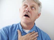 Senior man looks toward heaven Royalty Free Stock Images