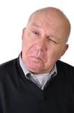 Senior man making faces Royalty Free Stock Photo