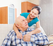 Senior man with mature wife Stock Photos