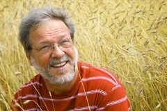 Senior man in a meadow Royalty Free Stock Photos