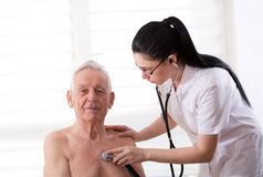 Senior man at medical examination Stock Photo