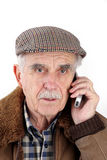 Senior man with mobile phone Stock Photo