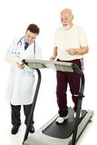 Senior Man - Monitored Exercise Stock Photography