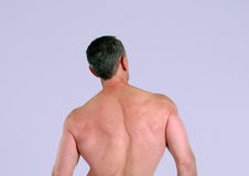 Senior man with muscular back Stock Photos