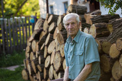 Senior man near his house Stock Images