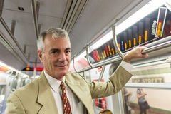 Senior Man in New York Subway Stock Images