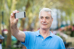 Senior Man in New York Royalty Free Stock Photo