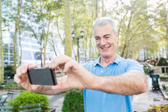 Senior Man in New York Stock Photography