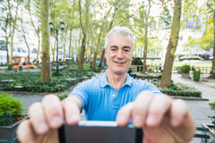 Senior Man in New York Royalty Free Stock Image