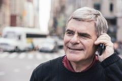 Senior Man in New York Stock Photos