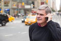 Senior Man in New York Stock Photo