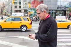 Senior Man in New York Royalty Free Stock Images