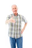 Senior man offering hand for handshake Royalty Free Stock Photography