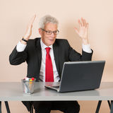 Senior man at the office Royalty Free Stock Images