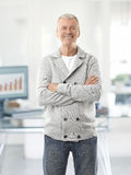 Senior man in the office Royalty Free Stock Image
