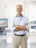 Senior man in the office Royalty Free Stock Photography