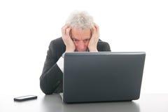 Senior man at the office Royalty Free Stock Image