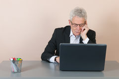 Senior man at the office Stock Photography