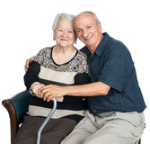 Senior man with old woman Royalty Free Stock Photo