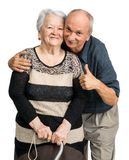 Senior man with old woman Royalty Free Stock Image