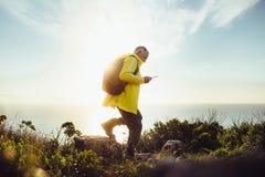 Free Senior Man On An Adventurous Hiking Trip Stock Photos - 138632723