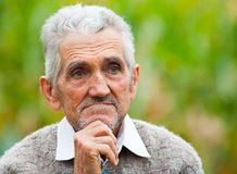 Senior man outdoor Royalty Free Stock Images