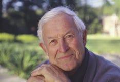 Senior man outdoor portrait_1 royalty free stock photography