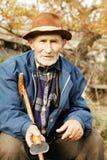 Senior man outdoors Royalty Free Stock Image