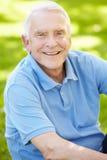 Senior man outdoors stock images