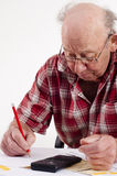 Senior man and paper work Royalty Free Stock Photography