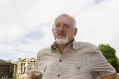 Senior man in Paris, France Royalty Free Stock Image
