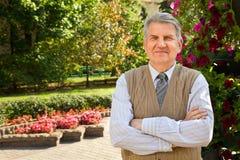 Senior man in park Stock Image