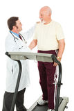 Senior Man Passes Fitness Test Royalty Free Stock Images