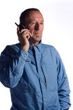 Senior man on phone Stock Photo