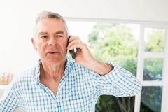 Senior man on a phone call Royalty Free Stock Photo