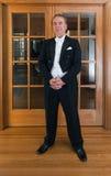 Senior man pianist and singer Stock Photos
