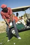 Senior Man Playing Golf Stock Photography