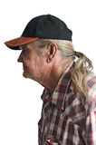 Senior man with a ponytail Stock Image
