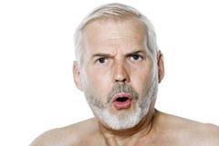 Senior man portrait anger Stock Image