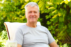 Senior man portrait Royalty Free Stock Images