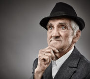 Senior man portrait Stock Images