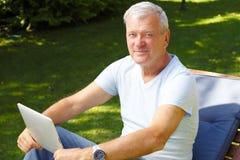 Senior man portrait Stock Images