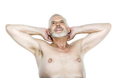 Senior man portrait relaxing Royalty Free Stock Photo