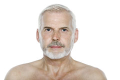 Senior man portrait serious blank expression Royalty Free Stock Photos