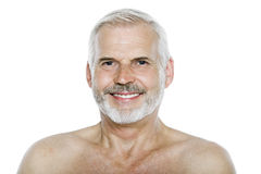 Senior man portrait smiling cheerful Royalty Free Stock Photo