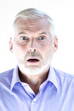Senior man portrait stun Royalty Free Stock Photo