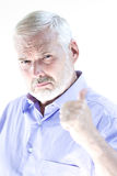 Senior man portrait thumb up Royalty Free Stock Images