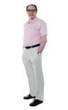 Senior man posing in style Stock Images