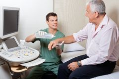 Senior Man At Radiology Centre Stock Photography