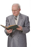 Senior man reading Royalty Free Stock Images